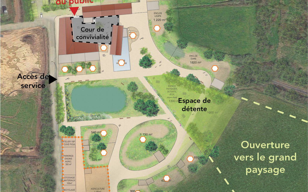 Parc animalier à Saint-Marcellin-en-Forez
