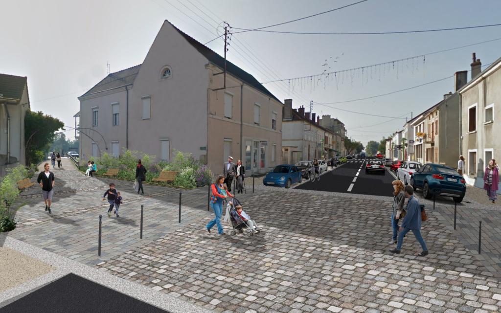 Rue Nationale et Parvis de la Mairie