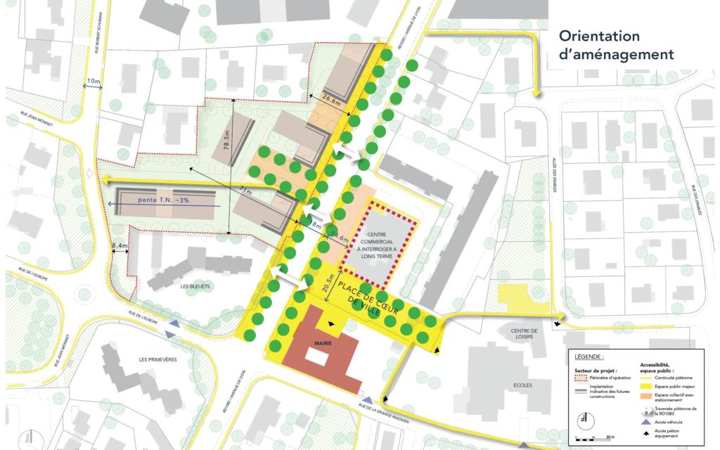 Projet Coeur de ville - Commune de Péronnas