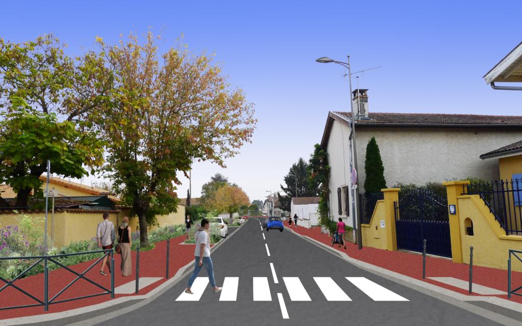 Rue Gambetta et rue de la Bergerie
